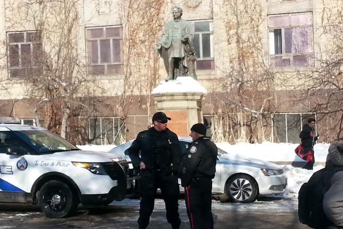 Toronto police on campus. File Photo