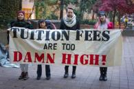 Students protest high tuition fees as part of last year's Freeze the Fees campaign. PHOTO: STEPHEN ARMSTRONG