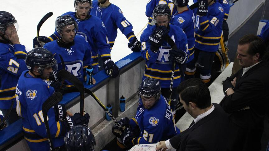 The Ryerson men's hockey team is having its best start to an OUA season in program history. PHOTO: WILL BROWN