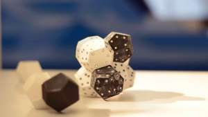 Small dice sculpture