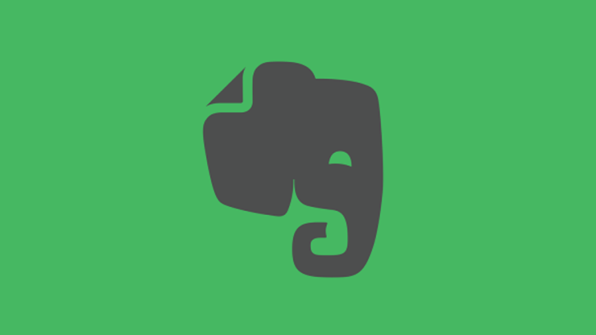 The Evernote logo, a cartoon elephant's head.