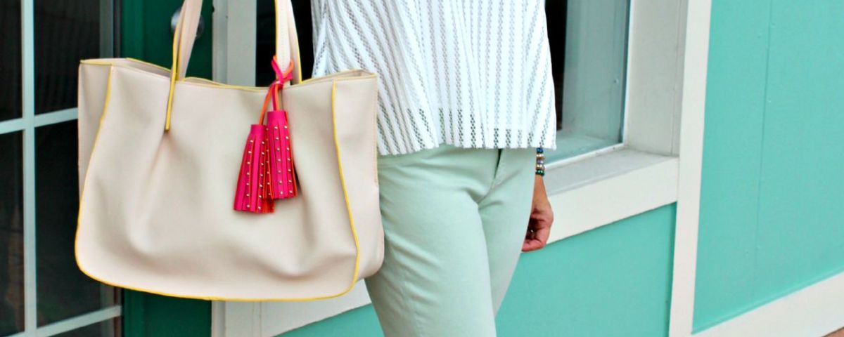 Minty Cool Jeans and a Breezy Top. fashion over 40