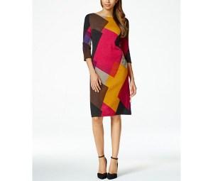 Nine West Printed Shift Dress