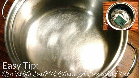 Use Table Salt To Clean A Scorched Pot