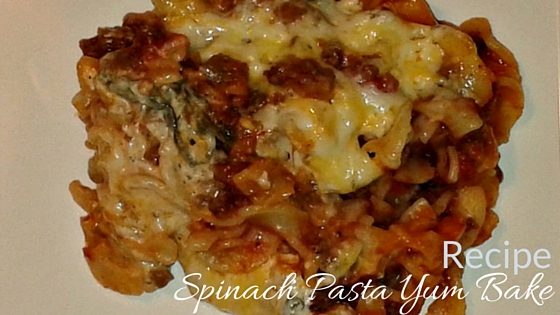 Spinach Pasta Yum Bake Recipe