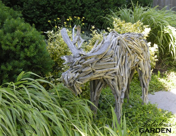 moose made out of driftwood