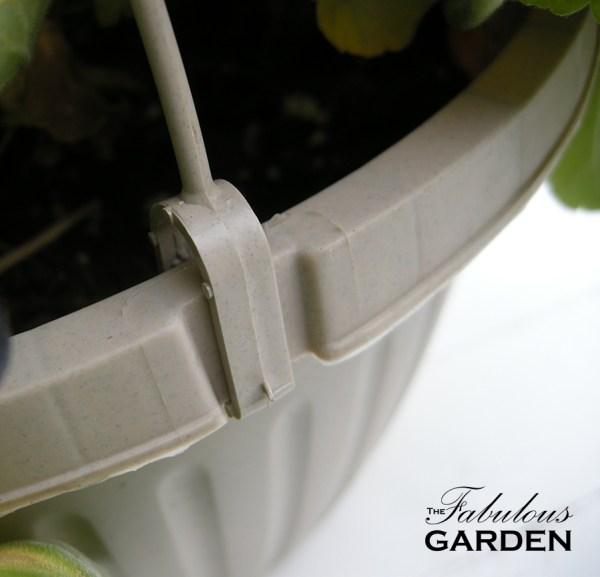 close up of clip on hanging basket