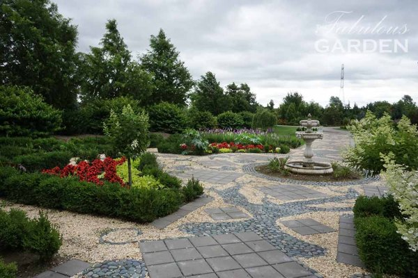 Formal gardens at Whistling Gardens