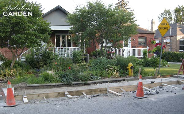 Would replacing a fire hydrant destroy my garden?