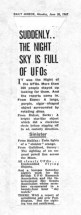 NEWSPAPER CLIPPINGS of ufo stories (370)