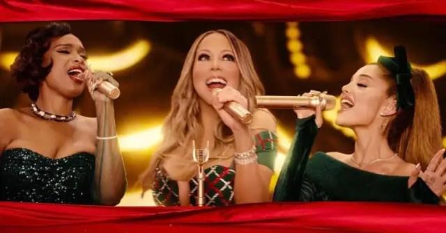 """Mariah Carey teams up with Ariana Grande and Jennifer Hudson for """"Oh Santa!"""" 1"""