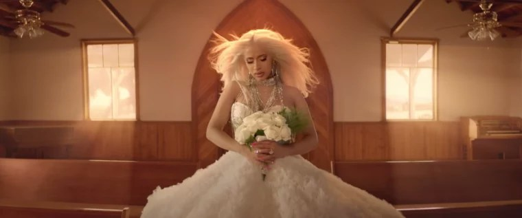 Cardi Bs Be Careful Video Style Is The Goth Wedding