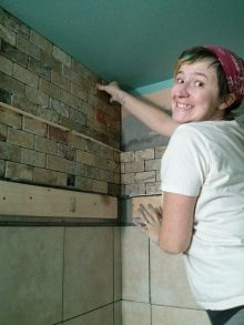 Look at me do the tile!