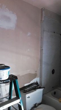 More cement board, before paint.