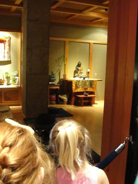 """Buddhist Chapel. """"There's not even any CHAIRS in there!"""" -Tischel"""