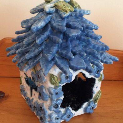 Bright Blue Fairy House