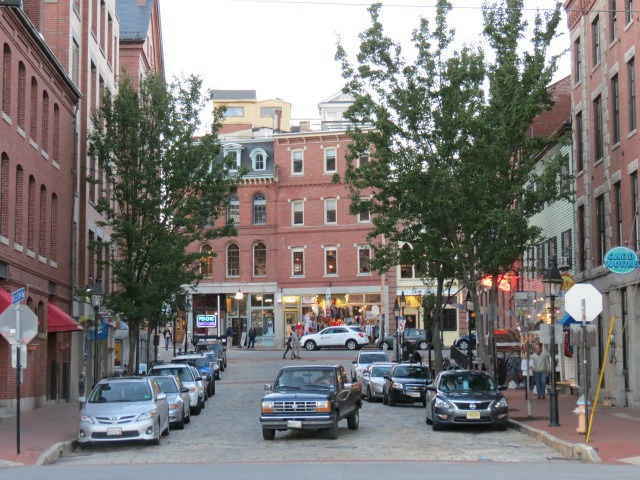 The streets of Portland, Maine.