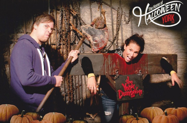 Scott Malthouse and I at the York Dungeon, a pretty cool way to take in the history and legends of the region.