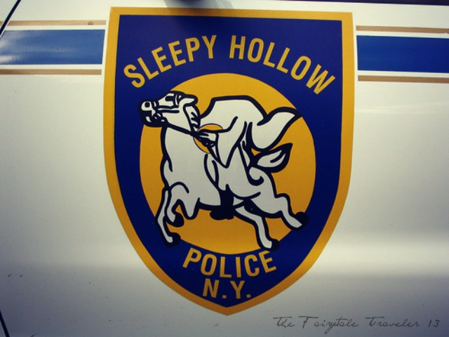 Police cars in Sleepy Hollow proudly honor the legend.