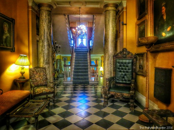 A warm and inviting entrance into Ballyseedy Castle Hotel.