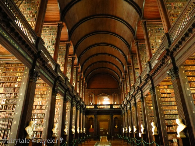 The Long Library at Trinity College where Bram Stoker attended school and athletic programs. By Christa Thompson