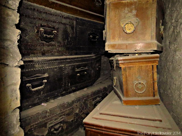 Coffins in the crypts of St. Michan's Church in Dublin. By Chirsta Thompson 2013