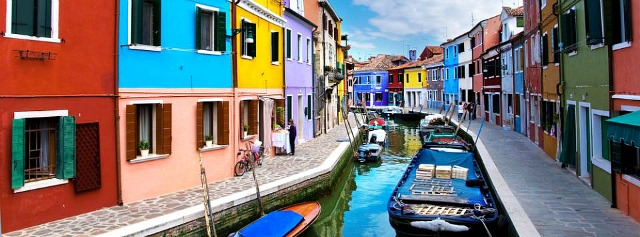 The vibrant colors of Murano Island are picture perfect.