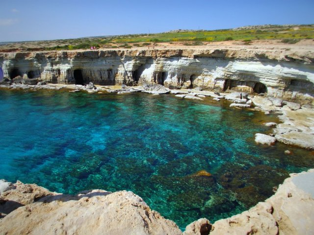 Cape Greco National Park, you can go inside the sea caves here. Way cool.