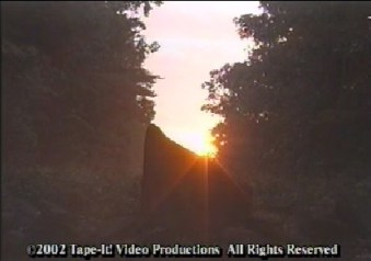 Summer Solstice Monolith courtesy of America's Stonehenge Interactive Journey CD ROM all rights reserved