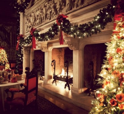 skimbaco biltmore fireplace christmas1