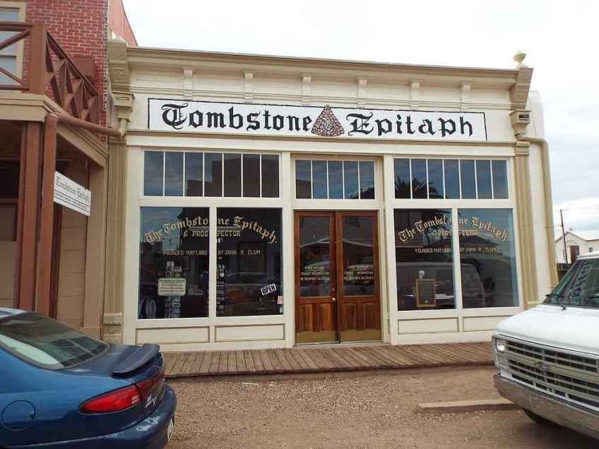Tombstone Epitaph in Tombstone, AZ