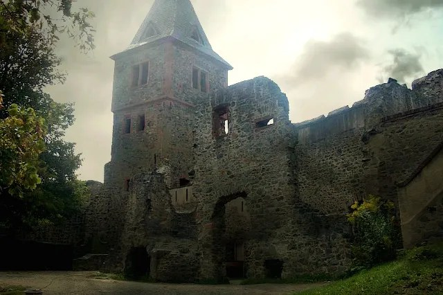 Frankenstein Castle Ruins, photo provided by Yamy of Wikimedia Commons