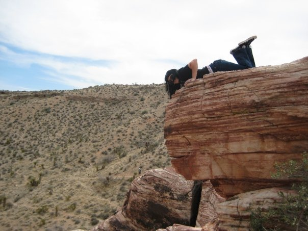 Just being a rolling stone in Red Rock Canyon in Las Vegas, NV. Here I'm 25.