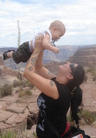 My son was just 6 months old when I took him to the Grand Canyon. I was 29.