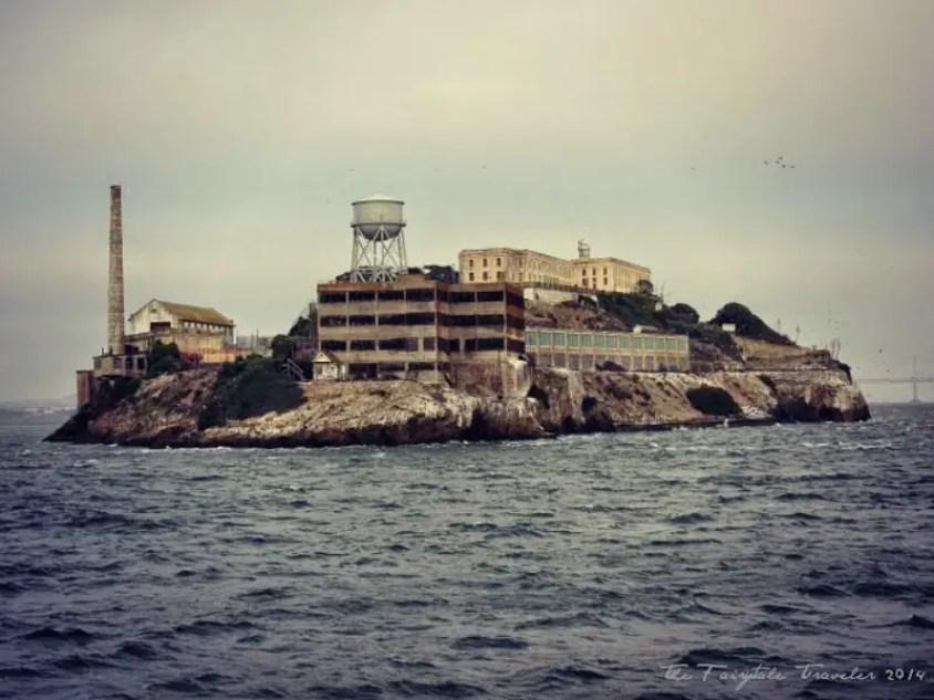 Alcatraz at night, tourist destinations in California