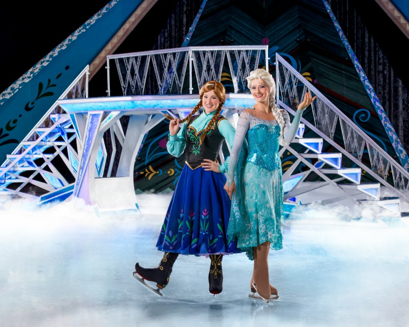 Elsa and anna Frozen on Ice