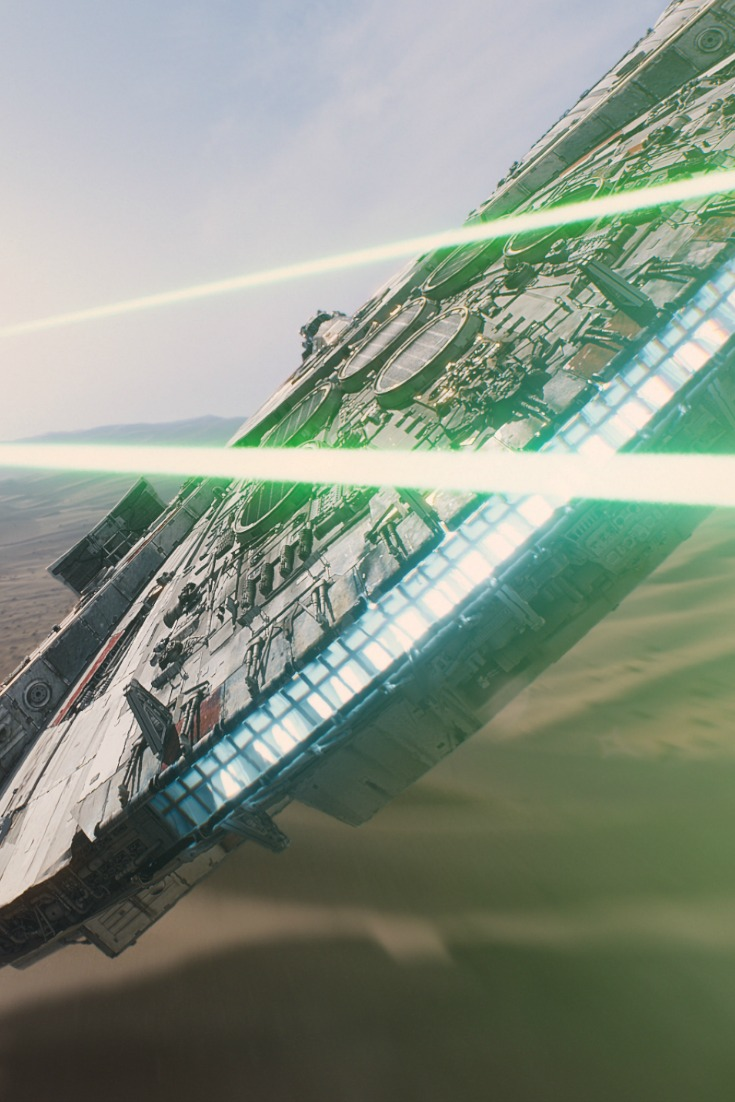 Star Wars the Force Awakens the Millennium Falcon Ph: Film Frame ©Lucasfilm 2015