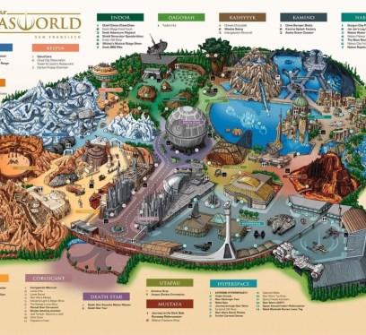 Star Wars Lucas World theme park map