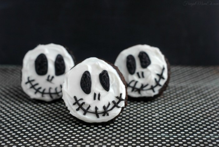 Halloween Recipes Jack Skellington Cupcakes