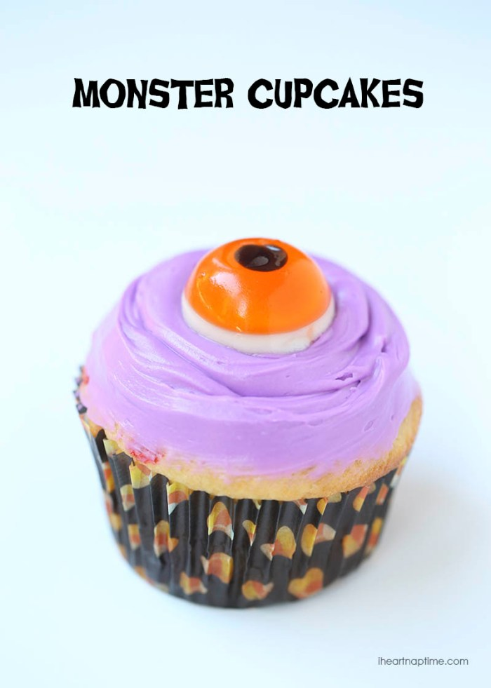 Halloween Recipes Monster Cupcakes