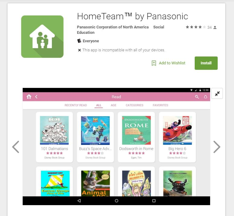 HomeTeam App by Panasonic