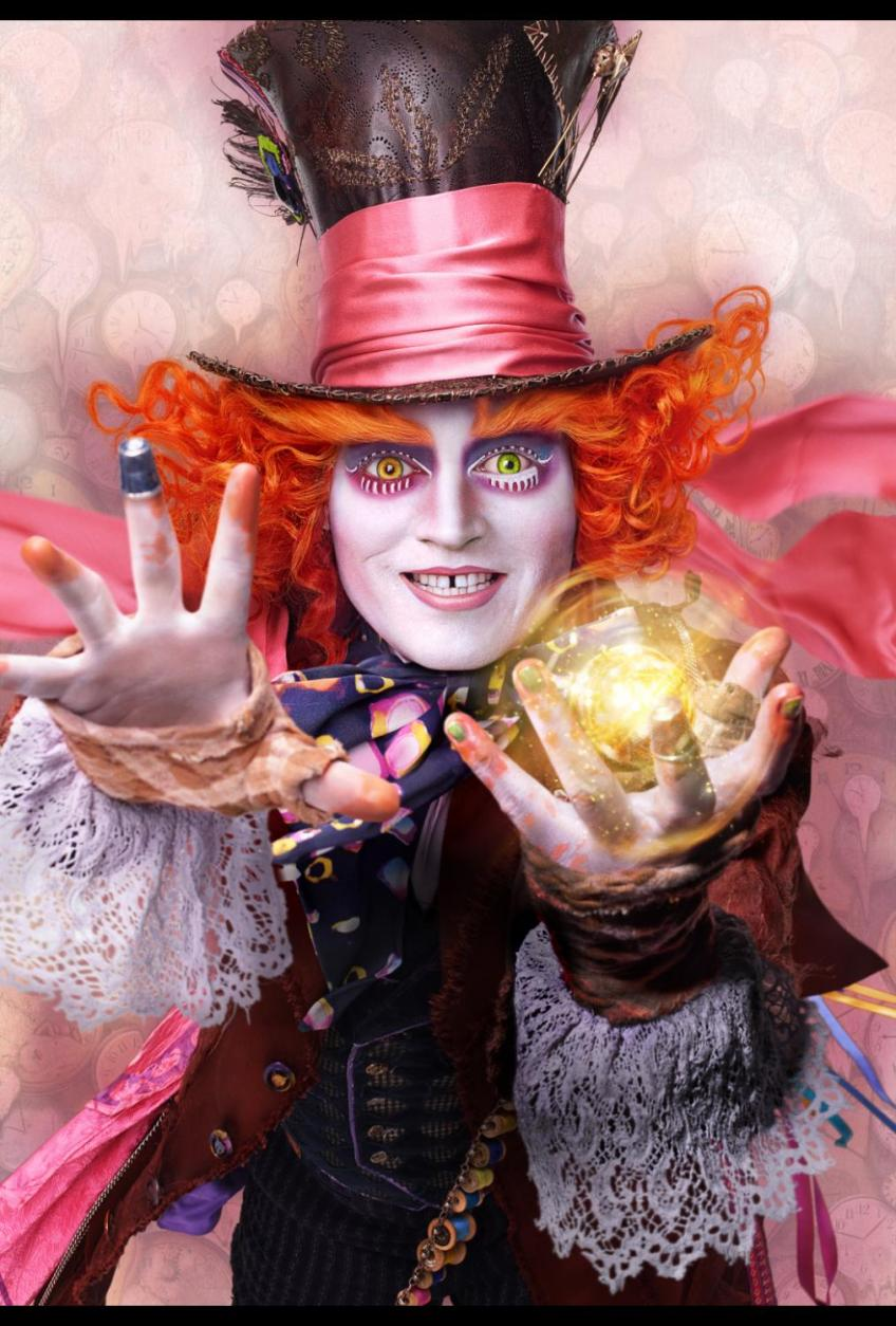 The Mad Hatter character poster