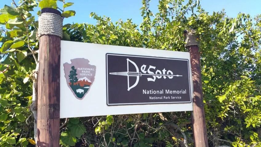 De Soto National Memorial Bradenton Florida, sign, native america in florida