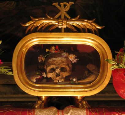Things to do in Rome, creepy, weird, St. Valentine's Skull,