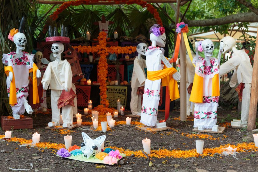 Day of the Dead vacation, Xcaret, Mexico, dia de los muertos, altar