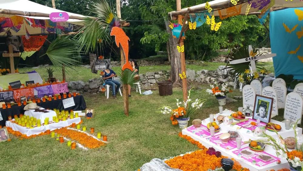 Day of the Dead vacation, Xcaret, Mexico, dia de los muertos, altar