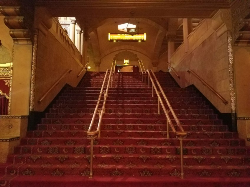 Stairs leading to theater / Photo Copyright Christa Thompson 2016