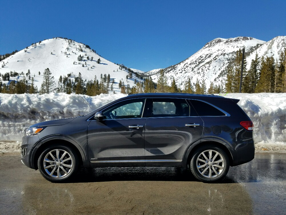 Snowmobiling for the first time, kia sorento, tahoe