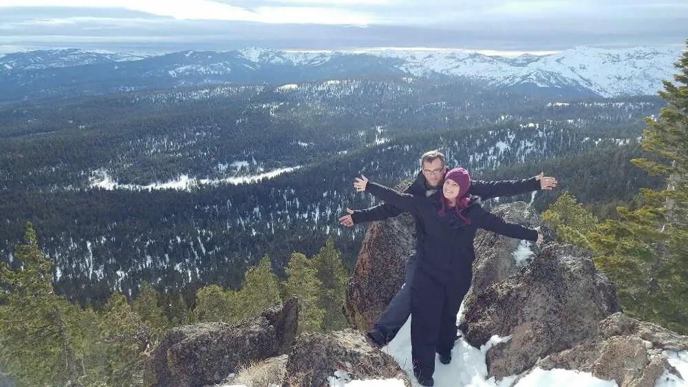 Snowmobiling for the first time, kia sorento, tahoe, christa thompson, sean overstreet