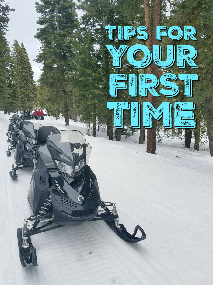 Snowmobiling for the first time